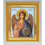 Михаил Архангел, Архистратиг, икона в белом киоте 19*22 см - Иконы