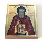 Преподобный Алипий Печерский, иконописец, икона на доске 13*16,5 см - Иконы