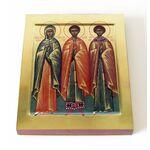 Мученики Наталия Никомидийская, Виктор Халкидонксий и Антоний Александрийский, икона 13*16,5 см - Иконы