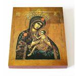 Арапетская икона Божией Матери, О Всепетая Мати, на доске 13*16,5 см - Иконы