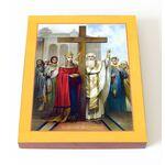 Воздвижение Креста Господня, печать на доске 13*16,5 см - Иконы