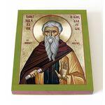 Преподобный Иларион Великий, икона на доске 13*16,5 см - Иконы