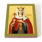 Великомученица Ирина Македонская, печать на доске 13*16,5 см - Иконы