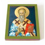 Равноапостольный Климент Охридский, икона на доске 13*16,5 см - Иконы