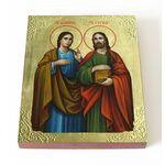 Мученики Косма и Дамиан Римские, икона на доске 13*16,5 см - Иконы