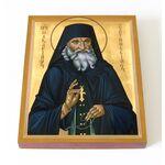 Преподобный Макарий Оптинский, икона на доске 13*16,5 см - Иконы