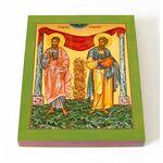 Мученики Маркиан и Мартирий, печать на доске 13*16,5 см - Иконы