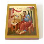 Апостол Матфей, евангелист, печать на доске 13*16,5 см - Иконы
