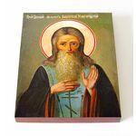 Преподобный Михаил Клопский, Новгородский, икона на доске 13*16,5 см - Иконы