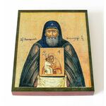 Преподобный Никодим Кожеезерский, икона на доске 13*16,5 см - Иконы