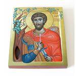 Преподобномученик Николай Новый Вуненский, печать на доске 13*16,5 см - Иконы