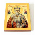 Святитель Николай Чудотворец в красном, икона 13*16,5 см - Иконы