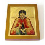 Преподобный Нил Сорский, печать на доске 13*16,5 см - Иконы