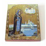 Преподобный Нил Столбенский, икона на доске 13*16,5 - Иконы