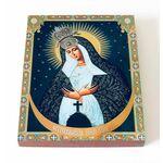 Икона Божией Матери Остробрамская Виленская, на доске 13*16,5 см - Иконы