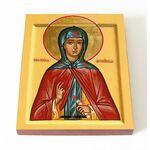 Преподобная Пелагия Антиохийская, икона на доске 13*16,5 см - Иконы