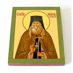 Преподобный Пимен Угрешский, Мясников, икона на доске 13*16,5 см - Иконы