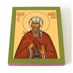 Преподобномученик Сергий Синайский, икона на доске 13*16,5 см - Иконы