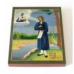 Праведный Симеон Верхотурский XIX в, икона на доске 13*16,5 см - Иконы