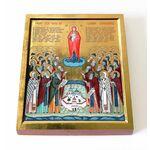 Собор Валаамских святых, икона на доске 13*16,5 см - Иконы
