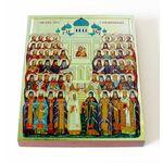 Собор Воронежских святых, икона на доске 13*16,5 см - Иконы