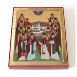 Собор преподобных Оптинских старцев, печать на доске 13*16,5 см - Иконы