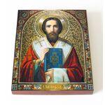 Святитель Тихон, епископ Амафунтский, икона на доске 13*16,5 см - Иконы