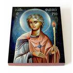 Великомученик Фанурий Родосский, печать на доске 13*16,5 см - Иконы