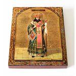 Святитель Феодосий Черниговский, икона на доске 13*16,5 см - Иконы