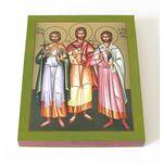 Мученики Фирс, Левкий и Каллиник Кесарийские, икона на доске 13*16,5см - Иконы