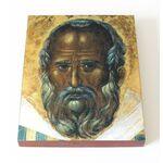 Фрагмент иконы Николая Чудотворца из Бари, 1327 г, на доске 13*16,5 см - Иконы