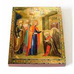 Явление Пресвятой Богородицы Сергию Радонежскому, доска 13*16,5 см - Иконы