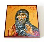 Преподобный Ефрем Сирин, икона на доске 14,5*16,5 см - Иконы