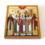 Избранные Московские святые, икона на доске 14,5*16,5 см - Иконы