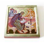 Преподобный Нестор Летописец, Печерский, икона на доске 14,5*16,5 см - Иконы