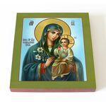 """Икона Божией Матери """"Неувядаемый Цвет"""", печать на доске 14,5*16,5 см - Иконы"""