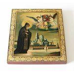 Преподобный Нил Столобенский, икона на доске 14,5*16,5 см - Иконы