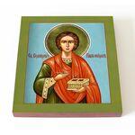 Великомученик и целитель Пантелеимон, икона на доске 14,5*16,5 см - Иконы
