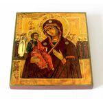 """Икона Божией Матери """"Праворучница"""", печать на доске 14,5*16,5 см - Иконы"""