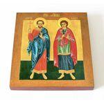 Мученики Сергий и Вакх Римские, икона на доске 14,5*16,5 см - Иконы