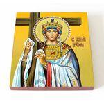 Равноапостольная царица Елена, икона на доске 14,5*16,5 см - Иконы