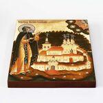 Преподобный Арсений Коневский, икона на доске 20*25 см - Иконы