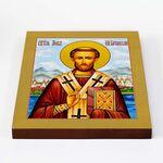 Преподобный Лев, епископ Катанский, икона на доске 20*25 см - Иконы