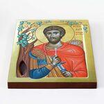 Преподобномученик Николай Новый Вуненский, икона на доске 20*25 см - Иконы
