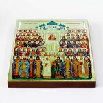 Собор Воронежских святых, икона на доске 20*25 см - Иконы