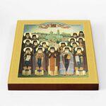 Собор преподобных Глинских старцев, икона на доске 20*25 см - Иконы