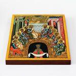 Сошествие Святаго Духа, Новгород, XV - XVI вв, икона на доске 20*25 см - Иконы