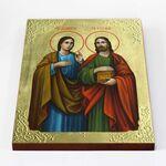 Мученики Косма и Дамиан Римские, икона на доске 30*40 см - Иконы