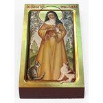 Преподобная Гертруда Нивельская, икона на доске 7*13 см - Иконы