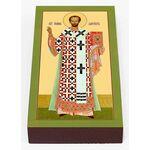 Святитель Иоанн Златоуст, икона на доске 7*13 см - Иконы